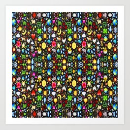 Stained Glass-3 Art Print