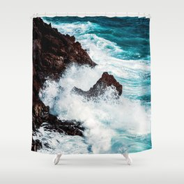 CONFRONTING THE STORM Shower Curtain