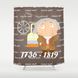 James Watt Shower Curtain