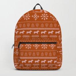 Scandinavian Christmas in Orange Backpack
