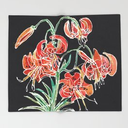 Tiger Lily Throw Blanket
