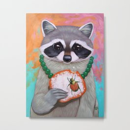 RACCOON, BEIGNET, BEETLE Metal Print