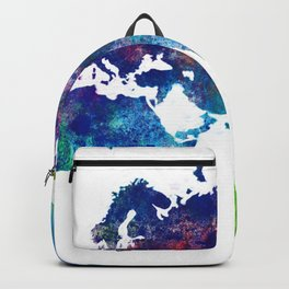 World Map Illustration Backpack