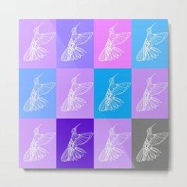 purple hummingbirds Metal Print