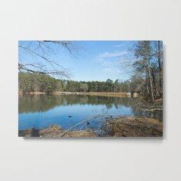 Durant nature park lake Metal Print