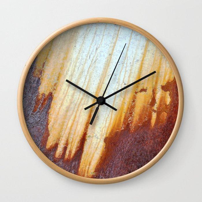 Rain Rusted Roof Wall Clock