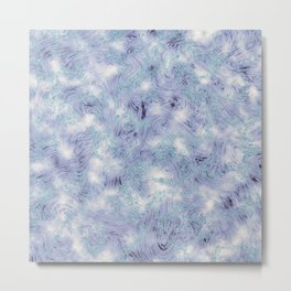 Blue and Purple Marble Swirl Texture Metal Print