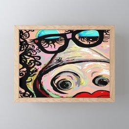 Hipster Pig Framed Mini Art Print