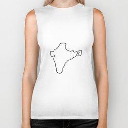 India Indian map Biker Tank