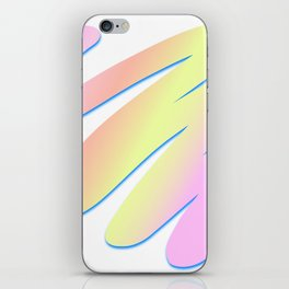 Pastel Scribble iPhone Skin
