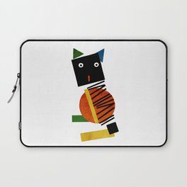 Black Square Cat - Suprematism Laptop Sleeve