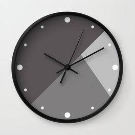 Gray Charcoal Geometric Pattern Wall Clock