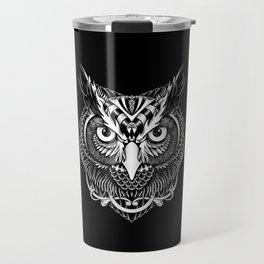 Owl Ornate Travel Mug