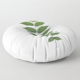 Green Leaf Botanical Print Floor Pillow