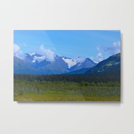 Mountain Glacier Metal Print