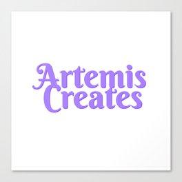 Artemis Creates Main Logo Canvas Print