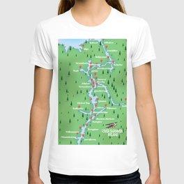 River Shannon Ireland Map T-shirt