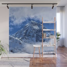 Summit of Mount Everest in clouds Wall Mural