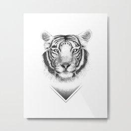 Serene Tiger Metal Print