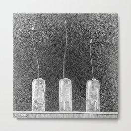 Three Buds Metal Print
