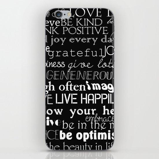 Inspirational Words iPhone Skin