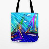 sail Tote Bags featuring SAIL. by capricorn