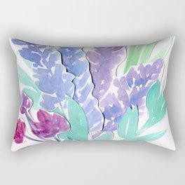 Lavender Floral Watercolor Bouquet Rectangular Pillow