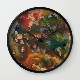 Colors Clash Wall Clock