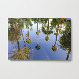 Palm Reflections Palm Tree Art Metal Print