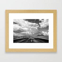 West Texas Road Framed Art Print