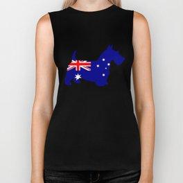 Australian Flag - Scottish Terrier Biker Tank