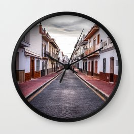 Cloudy Day, Nerja Wall Clock