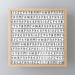 Runic Alphabet Framed Mini Art Print