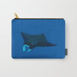 Geometric Mantaray - Modern Animal Art Carry-All Pouch