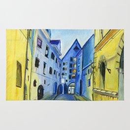 Town in Dusk Rug
