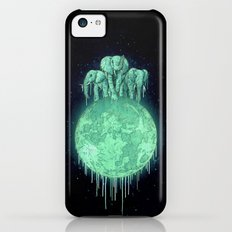 elephants on moon (variant) mint iPhone 5c Slim Case