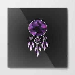 Dreamcatcher Purple Metal Print