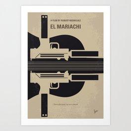 No445 My El mariachi minimal movie poster Art Print