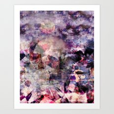 purple skull was here. Art Print