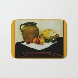 Bread and wine Bath Mat