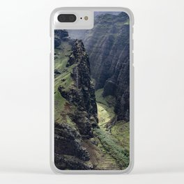 Hawaii Heavenly Aerial View Clear iPhone Case