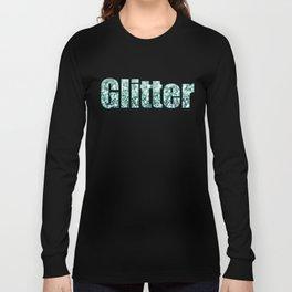 Aqua Glitter Long Sleeve T-shirt