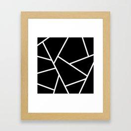 Black and White Fragments - Geometric Design II Framed Art Print
