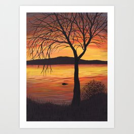 3 Visions Art Sunset Trio part 3 Art Print
