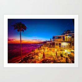 Twilight 5639 Laguna Riviera Beach Resort Art Print