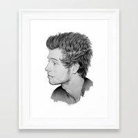 luke hemmings Framed Art Prints featuring Luke by Drawpassionn
