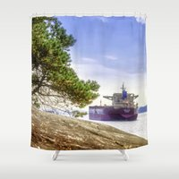 ohio Shower Curtains featuring UBC Ohio by August Landscapes