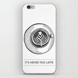 Latte Coffee Illustration iPhone Skin