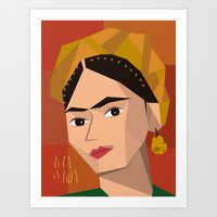 frida khalo Art Prints featuring Frida Khalo Cubism Edition 2 by Design SNS - Sinais Velasco