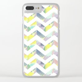 Abstract Color Chevron Clear iPhone Case